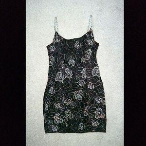 Black dress w- glitter embellishment sz11-12